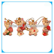 Valentine promotion gift hanging elephant ornament