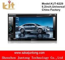 GPS HD Doble 2DIN estéreo del coche Reproductor de DVD Bluetooth iPod MP3 TV + cámara