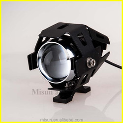 Black U5 LED Motorcycle Chopper Driving Fog Light Spot HeadLight FOR Motors