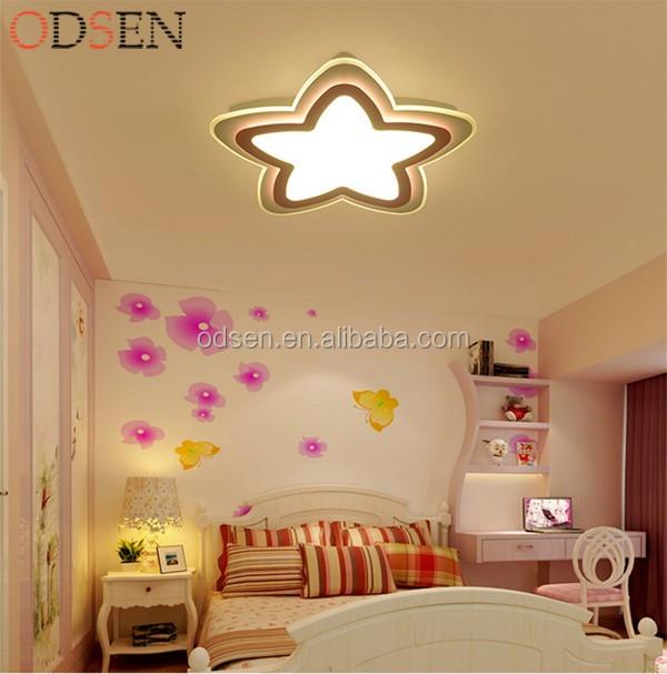 roze plafondlamp ster opbouw grote veel plafondverlichting