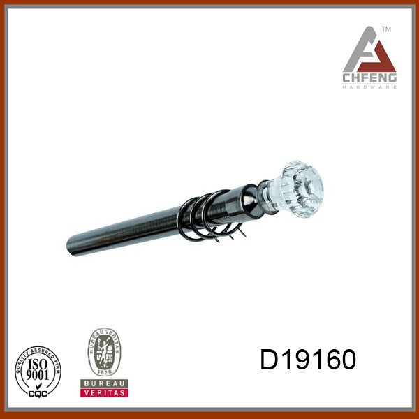 D19160 Kids Decorative Curtain Rods Leaf Finial - Buy Chrome Curtain ...