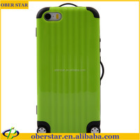 Dual Layer Cell phone Luggage Silicone Cases Trunk Suitcase Cover Free Sticker for iPhone 5 5s 5g