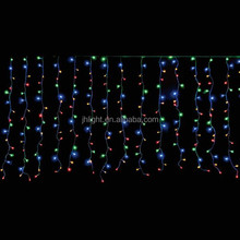 cheap led curtain light, Festival Holiday Decorative Multi Colored Garden Park Tree Decoration Solar LED Curtain Lights