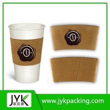 Corrugated heat proof coffee paper cup holder