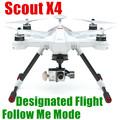 Hoteles económicos y profesionales Scouts X4 2.4G RC manía wifi 8 motores 1080P 3 ejes avión remoto cardán