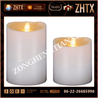 Hot Sale Flameless Moving Wick LED Wax Candle with Remote Control