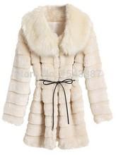 Women's Winter Warm Long Faux Mink Fur Coat