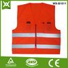 factory /suppliers made 100% polyester fabric safety reflective knit vest