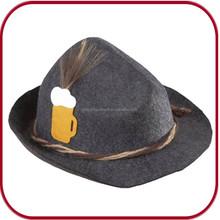 Oktoberfest Felt Hat with Beer Mug and Brush Character Hat PGC-0339