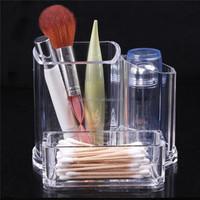 Promotion 1Pcs Makeup Box Brush Clear Acrylic Holder Organizer Cosmetic Jewelry Lipstick Display Storage Case