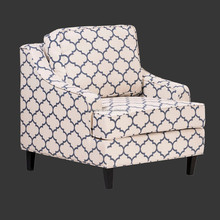 Modern living room single fabric sofa chair