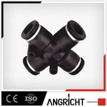 A117 PZAG black plastic reducing compress angel pneumatic pvc pipe fitting cross