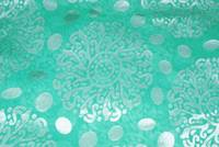 Triveni Lovely Green Brasso Fabric