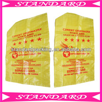 yellow pp woven cement 50 kg bags