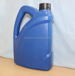 colored laundry detergent plastic bottle