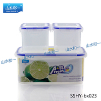 Small wholesale storage containers for food bx-026 rectangle food container kit waterproof case