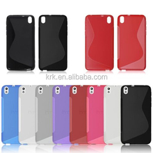 S Line Soft TPU Rubber Silicone Gel Skin Case Cover for HTC Desire 820