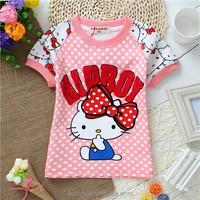 2015 Latest Baby Cloting Lovely Animal Shirt Sweet Girl T Shirt