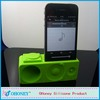 Popular building block shape silicone wireless speaker horn stand silicone speaker for iPhone 4 /4S /5,loudspeaker for iphone