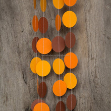 Paper Circle Garland Fall Colors All Occasion Banner Thanksgiving day party decoration