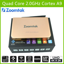 New Arrival zoomtak T8 Plus S812 quad core android 4.4 smart tv box 3D 4K hd sex pron video tv box internet free pron