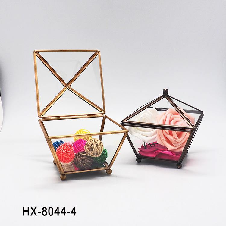 HX-8044 DIY Creativo Geométrico Vidrio Bromelias Plantas ...