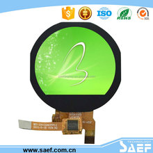 Round capacitive touch screen 1.22 inch 240*(RGB)*204 IPS All sight viewing TFT LCD module