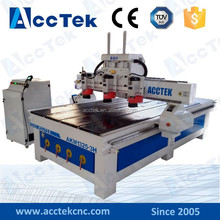 multi head wood stair cnc router machine for aluminum,wood,acrylic, stone etc