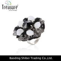 Black And Gray Sex Toy Ring Ethnic Jewelry RG04332