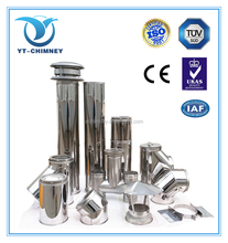 CE insulated stainless steel double wall stove chimney flue, fireplace chimney pipe