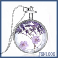 Hot sale crystal rose flower pendant necklace new design glow collar necklace