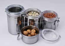 4 PCS Eco-friendly Practical Stainless Steel Kitchen Canister Set/Canister Jar/Food Canister