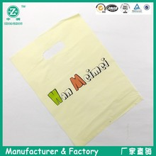yellow printing punch handle shopping bags
