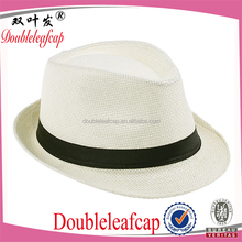 Pop Design New Fashion Mens Fedora Hat Promotional Straw Mens Panama Hat