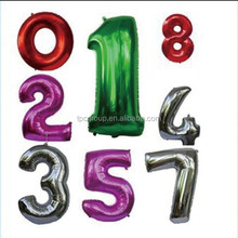 Decoration foil number balloons galore