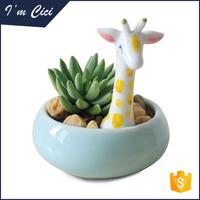 Popular animal shape ceramic flower vase for kid CC-D145