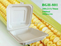 1000ML Cornstarch biodegradable disposable Lunch box food container