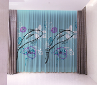 Wholesale fashion custom curtain Fish pattern blackout curtains for bedroom living children CL18