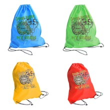 2015 New design advertising gifts, colorful polyester cute drawstring backpack bag