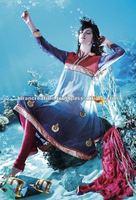 Royal Blue Net Embroidery Salwar