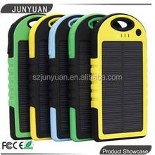 New Arrival Hi Tech 5000mAh Waterproof Solar Power Bank