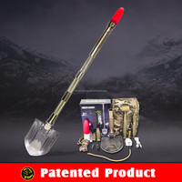 pratical car emergency kit with repair tools multifunction camping shovel