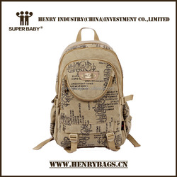 Fashion School Canvas Backpack With Cool Printing
