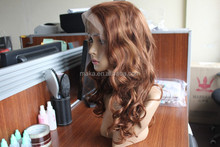 2015 New fashion full lace afro wavy cheap german synthetic hair wig