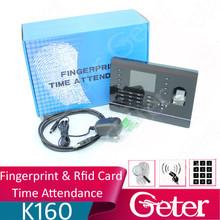 TFT color Screen TCP IP Based HOT Sale Free software biometric Fingerprint Time and Attendance fingerprint+card recognition