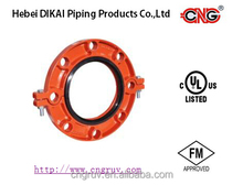 FM UL approved Ductile Iron Grooved pipe Fittings GROOVE FLANGE