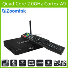 hot selling android 4.4 quad core 4k tv box smart tv stick media player HD external antenna android tv box m8