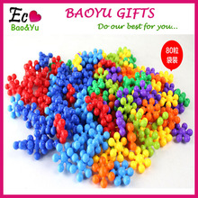 Plum Flower Shape Fight Inserted Plastic Building Blocks Assembled Baby Educational Toys