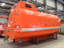 totally enclosed free fall lifeboat and launching appliance for ships