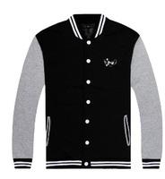 Gray sleeves black men jackets boy stylish jacket